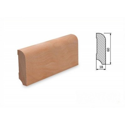 Podlahová lišta 60x18 buk surový