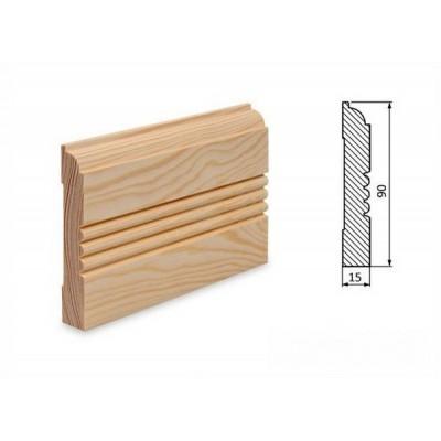 Podlahová lišta 90x15 borovice surová
