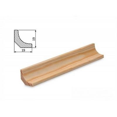 Podlahová lišta 19x19w borovice surová