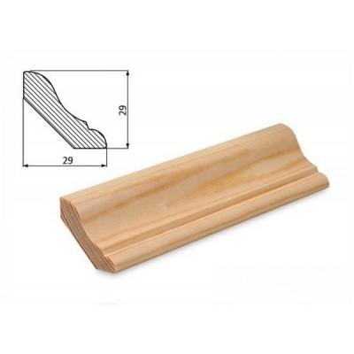 Podlahová lišta 29x29 borovice surová