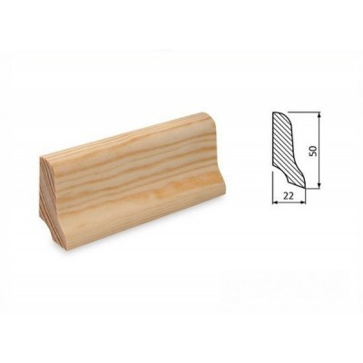 Podlahová lišta 50x22 borovice surová