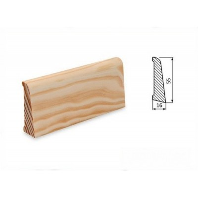 Podlahová lišta 55x16 borovice surová
