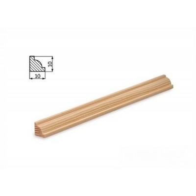 Podlahová lišta 10x10F borovice surová
