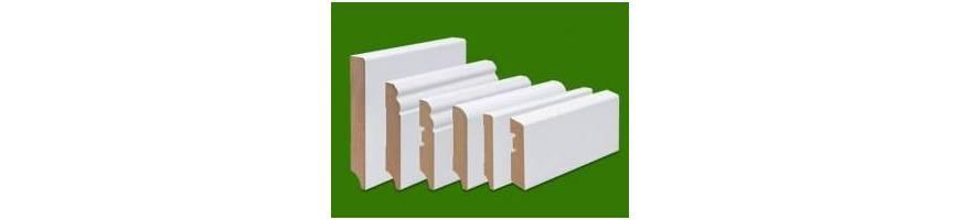 Podlahové lišty MDF bílé