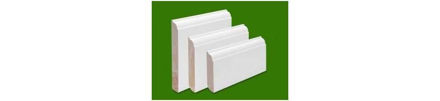 Podlahové lišty dřevěné bílé dýhované